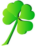 Clover. 3d green four Leaf Clover Royalty Free Stock Image