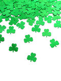 Clover. Green clover confetti for st Patrick's day Royalty Free Stock Photography
