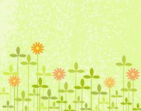 Clover. Editable vector design of clover with background grunge as a separate element Stock Photography