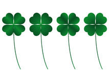 Clover. Four leafs, luck and fortune stock illustration