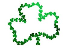 Clover. Green clover confetti for st Patrick's day Royalty Free Stock Image