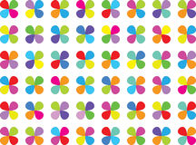Clover. Abstract pattern with clover colorful on white background Royalty Free Stock Image