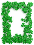 Clover background for St. Patrick Day. With free space in center royalty free stock photography
