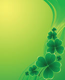 Clover background for the St. Patrick's Day Stock Images
