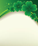 Clover background for the St. Patrick's Day Stock Photos
