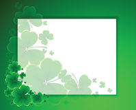 Clover background for the St. Patrick's Day Royalty Free Stock Photo