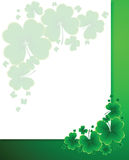 Clover background for the St. Patrick's Day Royalty Free Stock Photography