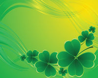 Clover background for the St. Patrick's Day Stock Photography