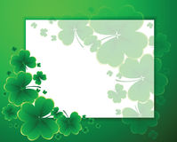 Clover background for the St. Patrick's Day Royalty Free Stock Image