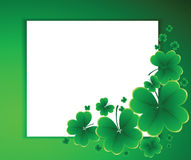 Clover background for the St. Patrick's Dayrve, day, decoration, Royalty Free Stock Image