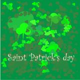 Green clover background for saint patrick day vector illustration