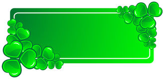 Clover Baner Royalty Free Stock Photo