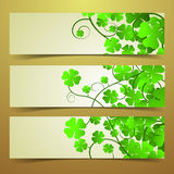 Clover Banners Royalty Free Stock Photo