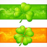 Clover banners Stock Photos