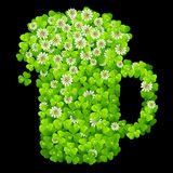 Clover beer mug. Vector iluustration Stock Photo