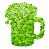 Clover beer mug. Design element Stock Photo