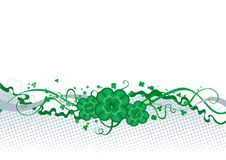 Clover borber. Vector abstract St. Patricks Day border with clover royalty free illustration