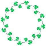 Clover border decoration for Saint Patrick's Day royalty free illustration
