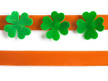 Clover with bow Royalty Free Stock Photos