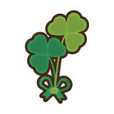Clover bow decoration festive st patrick day Royalty Free Stock Photography