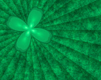 Clover Burst. Abstract textured background with St. Patrick's Day four lear clover vector illustration