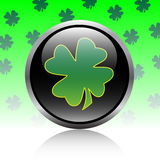 Clover button Royalty Free Stock Image