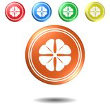 Clover,button,3D illustration. Clover,button,best 3D illustration stock photography