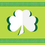 Clover card happy st.Patrick's day Stock Photo