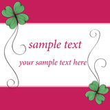 Clover card pattern design stock photo