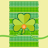 Clover card scrapbook style Royalty Free Stock Photos