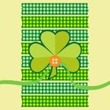 Clover card scrapbook style Royalty Free Stock Photos