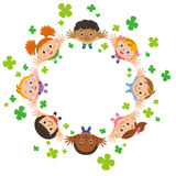 Clover and children Stock Images