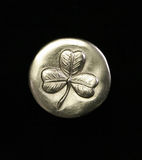 Clover Coin. The luck of the Irish Stock Images