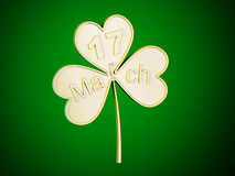Clover - coin Stock Images