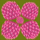 Clover color set, luck symbol, abstract clover flower vector illustration