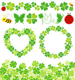Clover decoration Stock Photos
