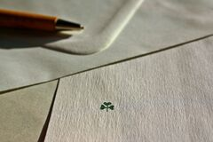 Clover drawing Royalty Free Stock Photos