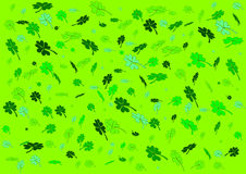 Clover field. Illustration of field with varoius kinds of four leaf clovers Stock Images