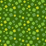 Clover field seamless pattern. Vector illustration. Clover field seamless pattern for St. Patrick Day. Vector illustration Royalty Free Stock Photography