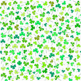 Clover flower pattern for Saint Patrick's day Royalty Free Stock Photos