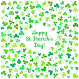 Clover flower postcard for Saint Patrick's day Royalty Free Stock Photography