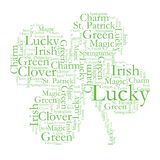 Clover Font Design Royalty Free Stock Photo