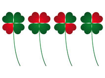 Clover four leafs. Luck and love royalty free illustration