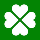 Clover with four leaves icon. Saint Patrick Royalty Free Stock Photography