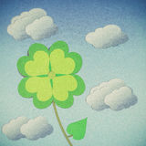 Clover with four leaves Royalty Free Stock Photos