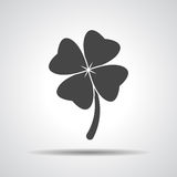 Clover with four leaves sign icon Royalty Free Stock Image