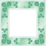 Clover frame. Decorative green frame with clover Stock Illustration