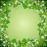 Clover frame background. For St. Patrick Day Stock Image