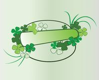 Clover frame in vector Stock Image