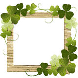 Clover framed message board Royalty Free Stock Photography